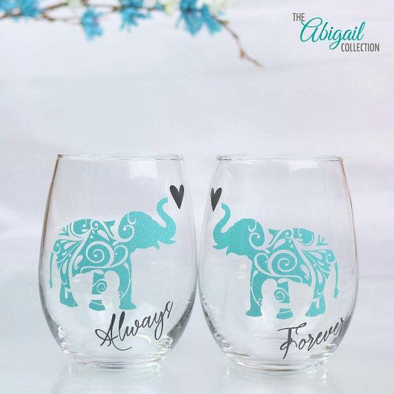 Elephant Wine Glass Set