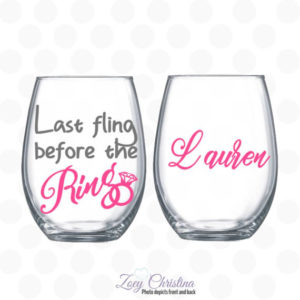 Last Fling Before the Ring Wine Glass