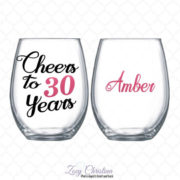 Personalized 30th Birthday Wine Glass