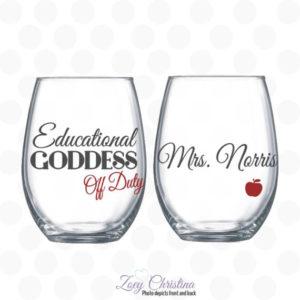 Professor Appreciation Wine Glass