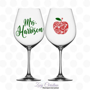 Teacher Appreciation Wine Glass