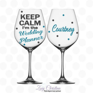 Wedding Planner Wine Glass