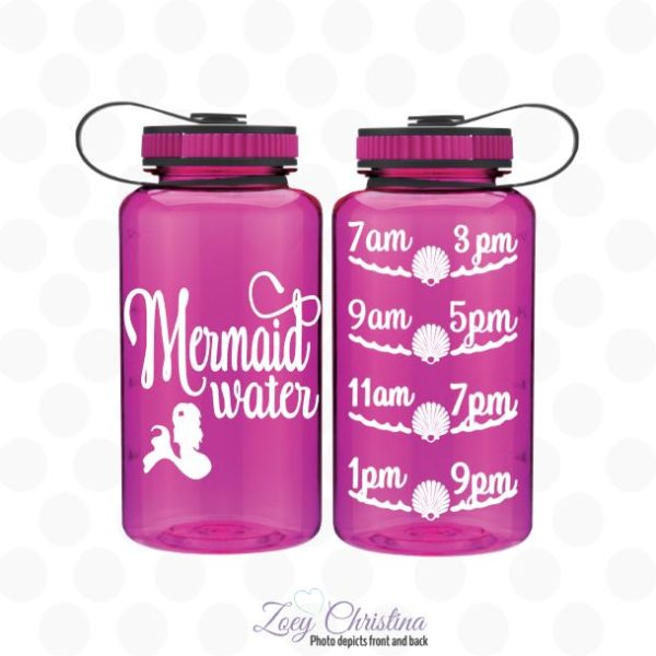 mermaid water water bottle