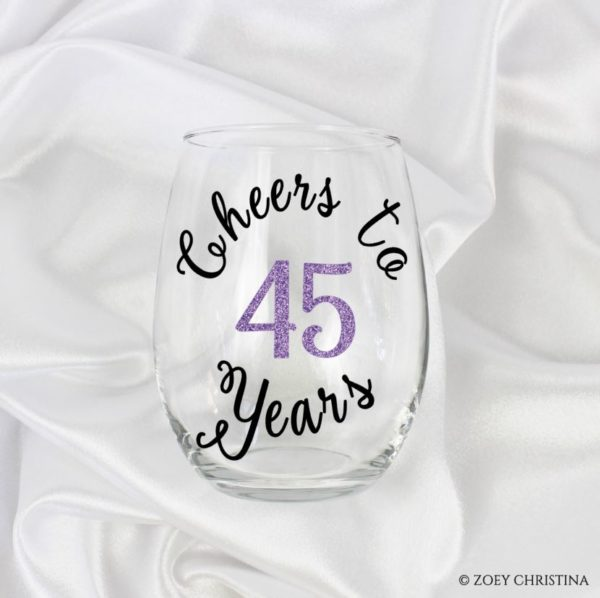 Cheers To 45 Years 45th Birthday Gift Ideas For Her Women