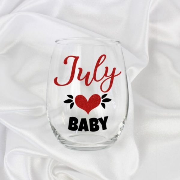 July Baby Wine Glass Gift For Women Birthday Ideas Her