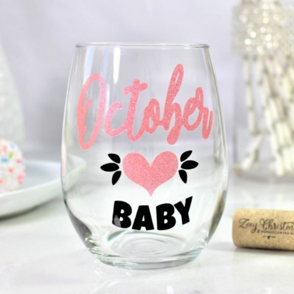 October Baby Wine Glass Gift Birthday Ideas For Her